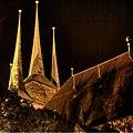 Severi church from WNW at night.jpg