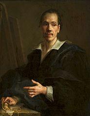 Self-portrait with a medallion of Prince of Liechtenstein.