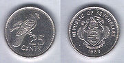 25 cent coins from Seychelles