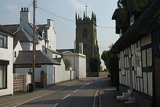 Shawbury - Image: Shawbury parish church from the village centre