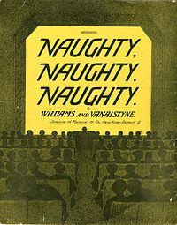 Sheet music cover - NAUGHTY, NAUGHTY, NAUGHTY (1911).jpg