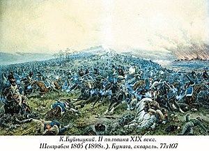 1805 in Austria - Battle of Schöngrabern by K.Bujnitsky