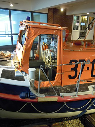 RNLB Manchester Unity of Oddfellows (ON 960) - Image: Sheringham Lifeboat The Manchester Unity of Oddfellows ON960 Sheringham Museum 29 03 2010 (2)