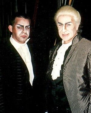 Sherrill Milnes - Sherrill Milnes (right) as  Scarpia in Tosca (Festival Puccini, 1997)