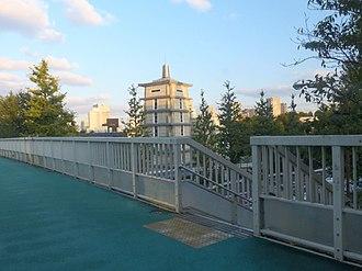 Your Name - Shinano-machi station pedestrian bridge