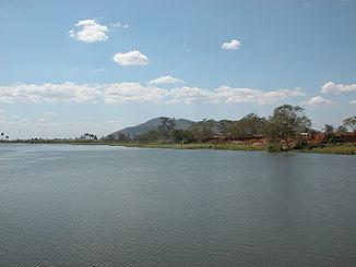 Shire-fluss bei liwonde nahe dem gleichnamigen nationalpark