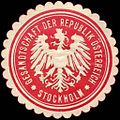 Siegelmarke Gesandtschaft der Republik Österreich - Stockholm W0223654.jpg