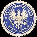 Siegelmarke Königlich Preussische Standesamt Pölitz - Kreis Randow W0216101.jpg