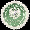 Siegelmarke Königlich Preussische Stempel - und Erbschaftssteueramt - Altona W0226802.jpg