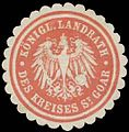 Siegelmarke K. Landrat des Kreises St. Goar W0391092.jpg