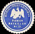 Siegelmarke K. Pr. Pionier Bataillon No. 21 W0285629.jpg