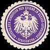 Siegelmarke Kaiserliche General Direction der Eisenbahn in Elsass - Lothringen - Strassburg W0220459.jpg