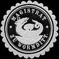 Siegelmarke Magistrat zu Wormditt W0312655.jpg