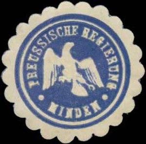 Regierungsbezirk Minden - Sealing stamp of the Minden regional government