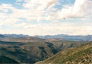 Sierra Mixteca mountainous formation in Oaxaca, Mexico