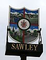 Sign for Sawley - geograph.org.uk - 1183000.jpg