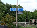 Signs for the Trans Pennine Trail with children's playground behind - geograph.org.uk - 924379.jpg
