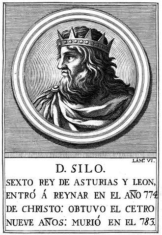 Silo of Asturias - 18th-century illustration representing Silo of Asturias