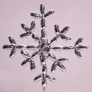 English: Silver snowflake