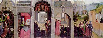 Simon Marmion - Part of the St Bertin altarpiece, Berlin
