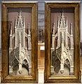 Simon marmion, l'anima di san bertino portata in paradiso a dio, 1459 ca. 02 cuspidi gotiche.jpg