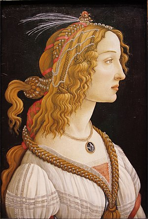 Simonetta Vespucci - Image: Simonetta Vespuci as a Nymph by Sandro Botticelli Städel Frankfurt am Main Germany 2017