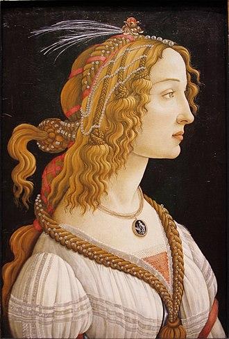 Simonetta Vespucci - Image: Simonetta Vespuci as a Nymph by Sandro Botticelli Städel Frankfurt am Main Germany 2017