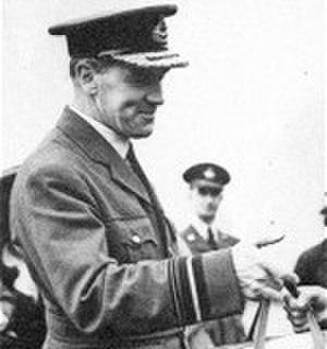 Quintin Brand - AVM Brand visiting an air base c. 1941