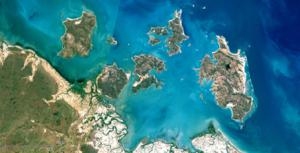Sir Edward Pellew Group of Islands - Natural Color LANDSAT image