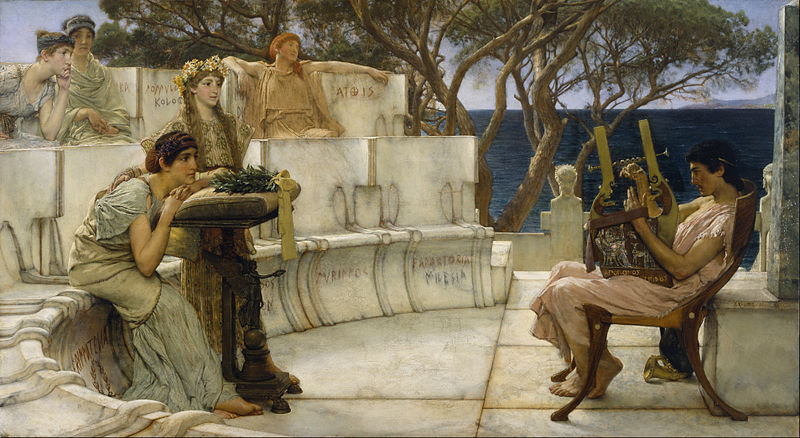 Dosya:Sir Lawrence Alma-Tadema, R.A., O.M. - Sappho and Alcaeus - Google Art Project.jpg