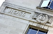 Sir Ronald Ross' name on LSHTM
