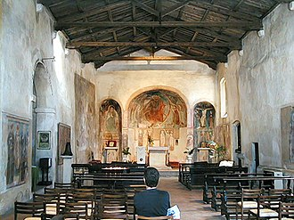 Sirmione - San Pietro in Mavino inside.