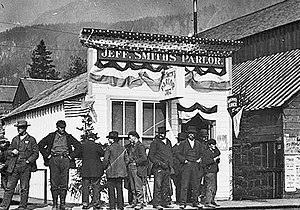 Shootout on Juneau Wharf - Jeff Smiths' Parlor in 1898