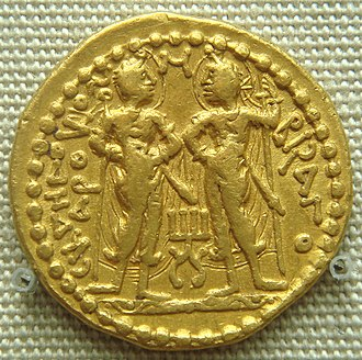 Kushan coinage - Skanda and Visakha