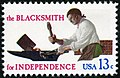 Skilled Hands For Independence Blacksmith 13c 1977 issue U.S. stamp.jpg