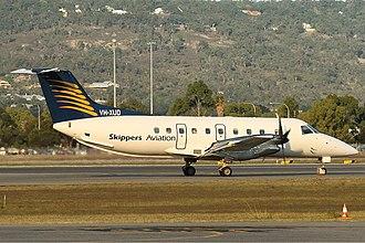Skippers Aviation - An Embraer EMB 120 Brasilia at Perth Airport
