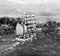 """Skonnerten """"Ekko"""" malt av Jørgen Raknes som var mannskap ombord. (4586521196).jpg"""