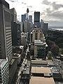 Skyline in Sydney CBD and Castlereagh Street, Sydney seen from John Maddison Tower.jpg