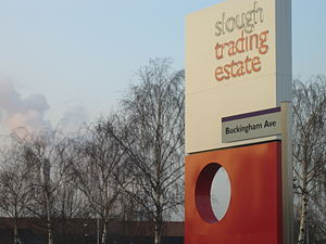 Segro - A sign at the Slough Trading Estate