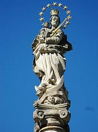 Sloup se sochou Panny Marie (Vidnava), socha.JPG