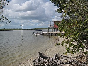 Chokoloskee, Florida - The landing behind Ted Smallwood's Store, site of Edgar Watson's death