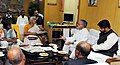 Social activist, Ms. Medha Patkar alongwith a delegation calls on the Union Minister for Rural Development and Panchayati Raj, Dr. C.P. Joshi, in New Delhi on November 22, 2010.jpg
