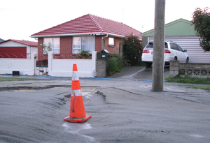 June 2011 Christchurch earthquake - Soil liquefaction caused by the earthquake