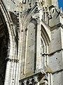 Soissons (02), abbaye Saint-Jean-des-Vignes, abbatiale, nef, 1ère travée, ancienne fenêtre haute côté nord, départ de voûte.jpg