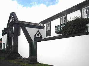 Calheta, Azores - The imposing Noronha family manorhouse associated with landed gentry in the Household of Queen Catherine
