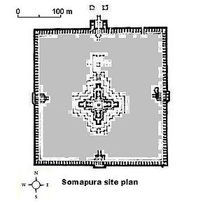 Somapura Mahavihara - Site map