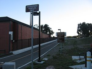 Larkspur Landing station - Head of the rail trail at the future station