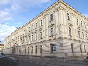 Raaberbahn - Headquarters building in Sopron