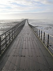 Southend Pier in England is the longest pleasure pier in the world, at 1.34 miles (2158 m)
