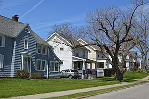 Maple Heights, Ohio - Residential neighborhood along Vine Street